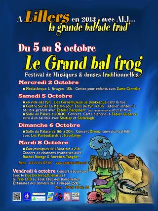 Affiche Festival Le Grand Bal Frog / La grande ballade trad à Lillers